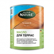 Масло-краска натуральная для террас из дерева, цвет 034 Braun, Ultra Nature (тг-17023)